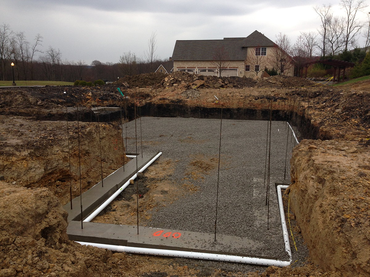 Champion Services Basement Excavation Footer Drains